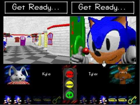 Terror is your teacher in Sonic Schoolhouse for the PC.